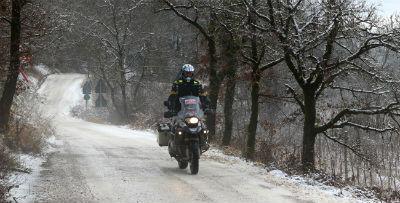 Conduccion de moto en invierno