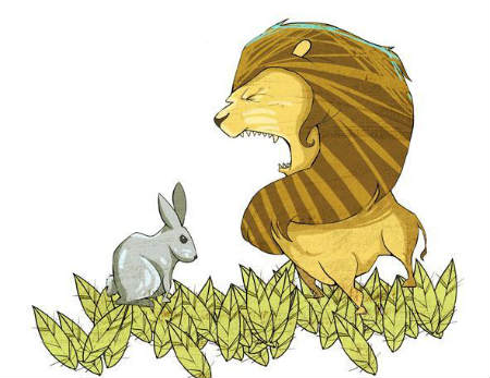 Qué comen los conejos y qué comen los leones
