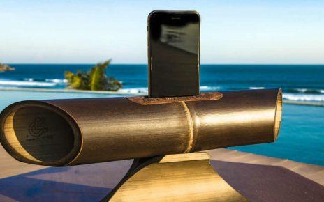 altavoces de bambu para smartphone