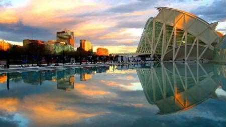 Ciudad de las Artes y la Ciencia en Valencia