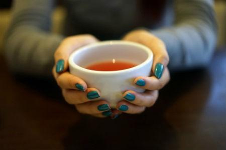 aroma de las hojas secas del té